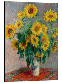 Tableau en aluminium  Bouquet de tournesols - Claude Monet