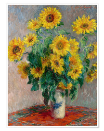 Poster  Bouquet de tournesols - Claude Monet
