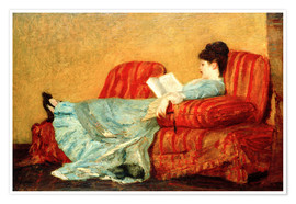Poster Young Lady Reading