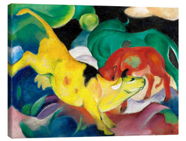 Toile  Cows, yellow, red, green - Franz Marc