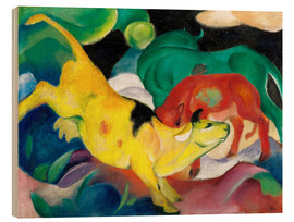 Bois  Cows, yellow, red, green - Franz Marc