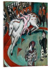 Tableau en verre acrylique  Circus Rider - Ernst Ludwig Kirchner