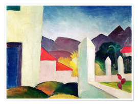 Poster  Paysage tunisien - August Macke
