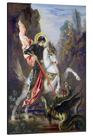 Alu-Dibond  St. George and the Dragon - Gustave Moreau