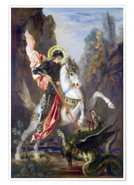 Poster  St. George and the Dragon - Gustave Moreau