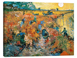 Toile  The red Vineyard - Vincent van Gogh