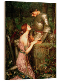 Tableau en bois  Lamia - John William Waterhouse