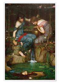 Poster  Les nymphes trouvent la tête d'Orphée - John William Waterhouse