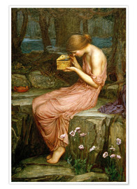 Poster  Psyché ouvre la boîte d'or - John William Waterhouse