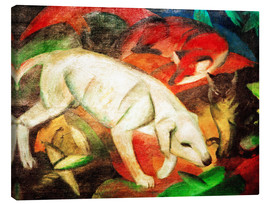 Toile  Dog, cat, fox - Franz Marc