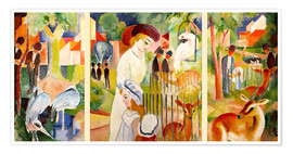 Poster  Grand jardin zoologique - August Macke