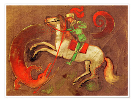 Poster  Chevalier George et Dragon - August Macke