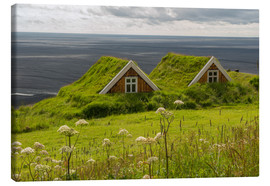 Tableau sur toile  Traditional Houses in the Skaftafell National Park, Iceland - Markus Ulrich