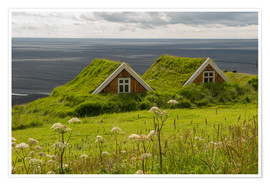 Poster  Traditional Houses in the Skaftafell National Park, Iceland - Markus Ulrich