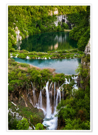 Poster  Waterfall Paradise Plitvice Lakes - Andreas Wonisch