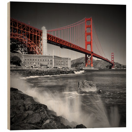 Tableau en bois  Pont du Golden Gate, Fort Point - Melanie Viola