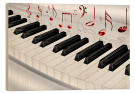 Kalle60 - Piano keyboard with notes