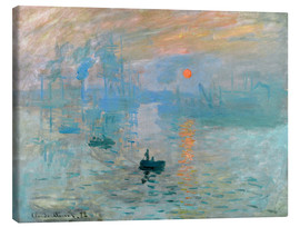 Toile  Impression, soleil levant - Claude Monet