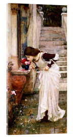 Tableau en verre acrylique  Le sanctuaire - John William Waterhouse