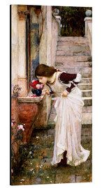 Tableau en aluminium  Le sanctuaire - John William Waterhouse