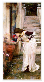Poster  Le sanctuaire - John William Waterhouse
