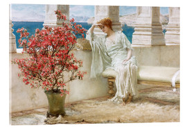 Tableau en verre acrylique  Her eyes are with her thoughts and they are far away - Lawrence Alma-Tadema