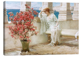 Tableau sur toile  Her eyes are with her thoughts and they are far away - Lawrence Alma-Tadema
