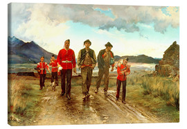 Tableau sur toile  'Listed for the Connaught Rangers': Recruiting in Ireland, 1878 - Lady Butler