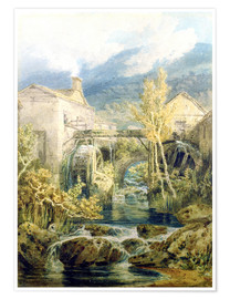 Poster  The Old Mill, Ambleside - Joseph Mallord William Turner