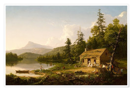 Poster  Home in the Woods - Thomas Cole