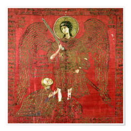 Poster Archangel Michael with Manuel II Palaeologus