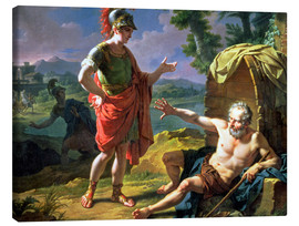 Toile  Alexander and Diogenes, 1818 - Nicolas Andre Monsiau