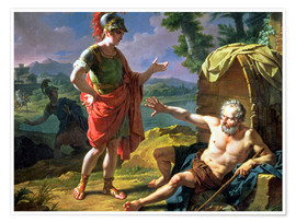 Poster Alexander and Diogenes, 1818