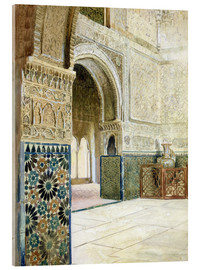 Verre acrylique  Interior of the Alhambra, Granada - French School