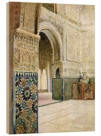 French School - Interior of the Alhambra, Granada