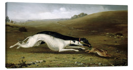 Tableau sur toile  Hare Coursing in a Landscape, 1870 - John Fitz Marshall