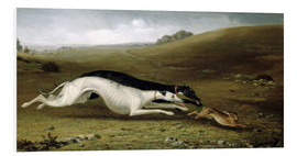 Tableau en PVC  Hare Coursing in a Landscape, 1870 - John Fitz Marshall