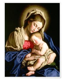 Poster  Madonna and Child - Il Sassoferrato