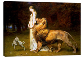 Tableau sur toile  Una and the Lion, from Spenser's Faerie Queene - Briton Riviere