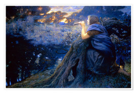 Poster  Fantaisies crépusculaires - Edward Robert Hughes