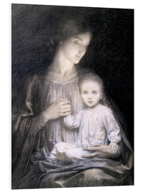 Tableau en PVC  Mother and Child, c.1920 - Sir Frank Dicksee
