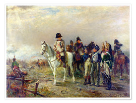 Poster  The Turning Point at Waterloo - Robert Alexander Hillingford