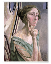 Poster Portrait of Edith Sitwell , 1915