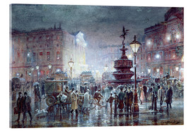 Tableau en verre acrylique  Piccadilly Circus at Night, 1911 - Thomas Prytherch