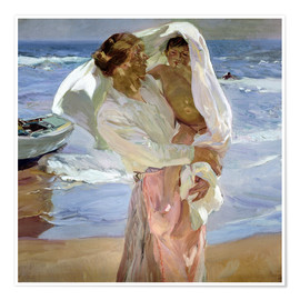 Poster  Just Out of the Sea - Joaquin Sorolla y Bastida