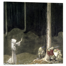 Tableau en verre acrylique  Brother St. Martin and the Three Trolls - John Bauer