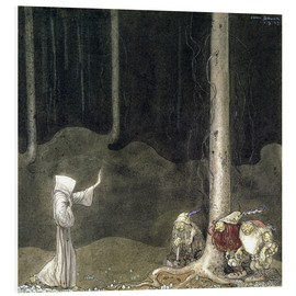 Tableau en PVC  Brother St. Martin and the Three Trolls - John Bauer