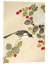 Verre acrylique  One of a series of paintings of birds and fruit, late 19th century - Wang Guochen