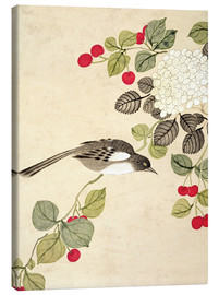 Toile  One of a series of paintings of birds and fruit, late 19th century - Wang Guochen