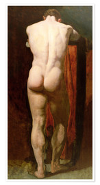 Poster  Standing Male Nude - William Etty